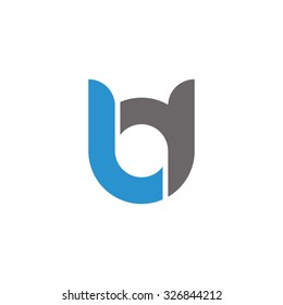 bd, db initial overlapping rounded letter logo
