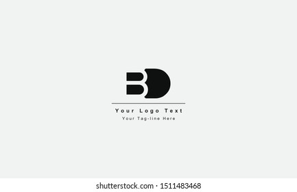 BD or DB letter logo. Unique attractive creative modern initial BD DB B D initial based letter icon logo