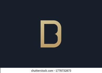 BD logo design . letter B in the negative space of letter D . creative logo design . vector illustration