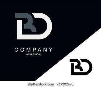 BD Logo Letter Design Template Element