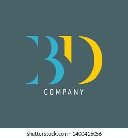 BD logo. Logo template for company. Monogram logo BD