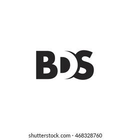 BDS Logo. Vector Graphic Branding Letter Element. White Background