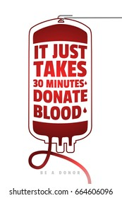 Be a Donor. Creative Motivate Information Donor Poster. Blood Donation. World Blood Donor Day Banner. Medical Design Elements.