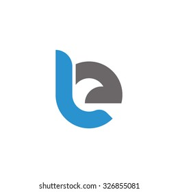 be, eb initial overlapping rounded letter logo