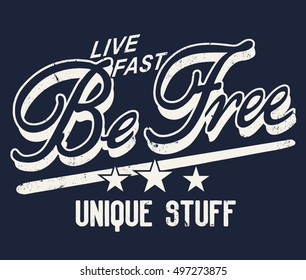 Be Free illustrator artwork