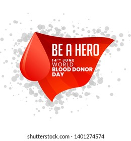 be a hero world blood donor day background