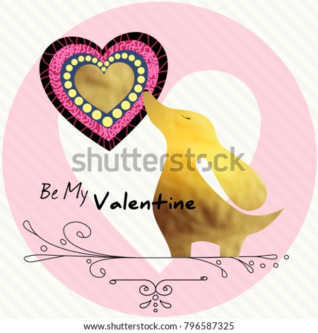 be my valentine gold dog trendy stock vector royalty free