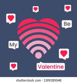 Be my Valentine with love wife & chat box for social media