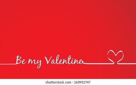 be my Valentine Text -Handmade Calligraphy