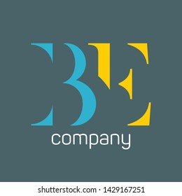 BE ogo. Company logo. Monogram logo. Letter b and e.