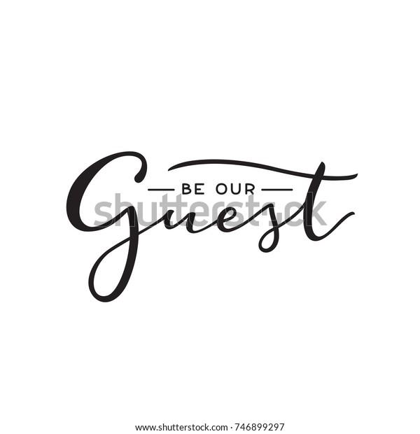 お客様の結婚式 パーティーのタグに出て ゲストカード ポスター用の手書きの文字ラベル パーティー 結婚式 行事の現代の書道の看板 簡単なベクターイラスト 贈り物や贈り物用のかわいいラベル のベクター画像素材 ロイヤリティフリー