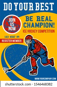 be real champion hockey poster