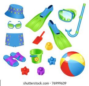 Beach accessories for boy