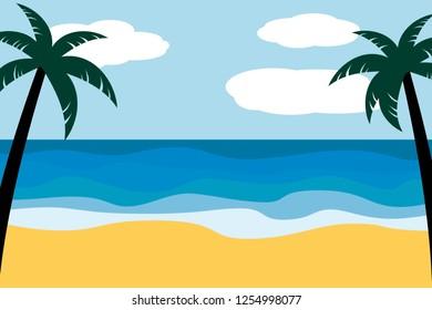 beach backgroud vector editable