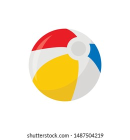 beach ball icon in flat style isolated. Vector Symbol illustration.