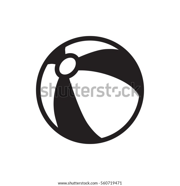 beach ball icon illustration isolated vector sign symbol
