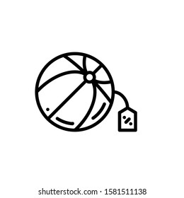 Beach Ball Icon Outline Vector. Holiday Sale Icons. Online Shop Ikon.