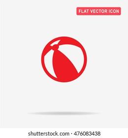 Beach ball icon. Vector concept illustration for design.