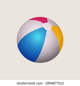 Beach ball isolated on a white background.