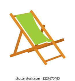 beach chair icon - beach chaise longue. Vacation and travel concept. beach chair