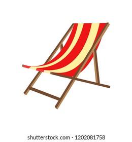 Beach chair. Relaxation. Vector illustration. EPS 10.
