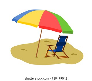 Beach Chair with Umbrella