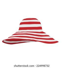 Beach hat, hat vector, beach hat isolated