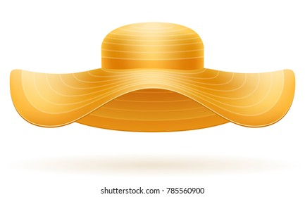 beach hat for women stock vector illustration isolated on white background