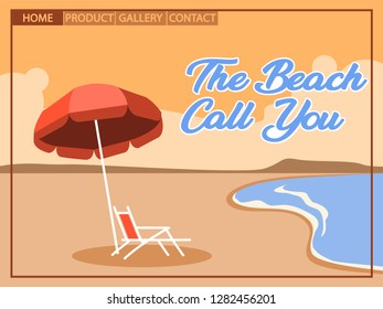 Beach holiday with cubism  art style for homepage design. Artboard using 800x600 pixel.
