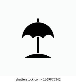 beach icon vector sign symbol isolated