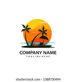 Beach Logo Images, Stock Photos & Vectors