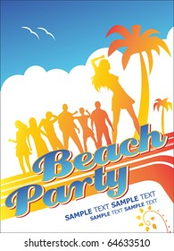 Beach Party. Editable Vector Format