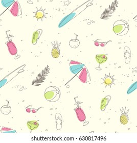 beach party pattern