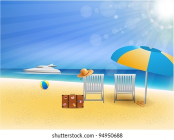 Beach Scenic Illustration