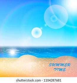 Beach sea sky summer sun.