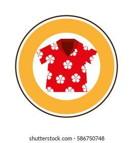 beach shirt tropical icon