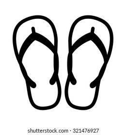 Beach slippers - flipflop icon
