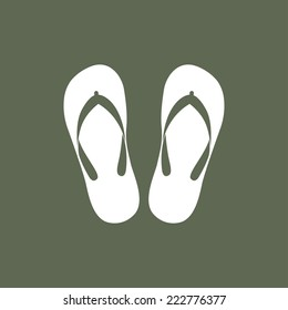 Beach slippers icon - Vector
