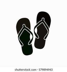 Beach slippers  icon. Vector design.