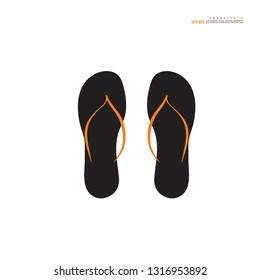 Beach slippers.flipflop icon.Vector illustration.