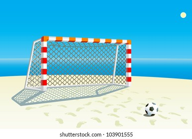 Beach  soccer background.