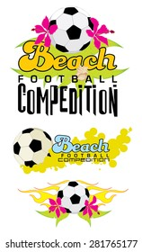 Beach Soccer Football logo set