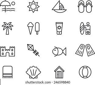 Beach & Summer icons