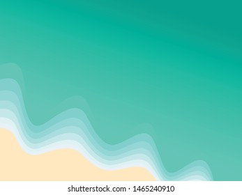 Beach top view Vector Illustration