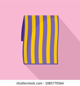 Beach towel icon. Flat illustration of beach towel vector icon for web design