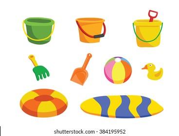 beach toy cartoon vector