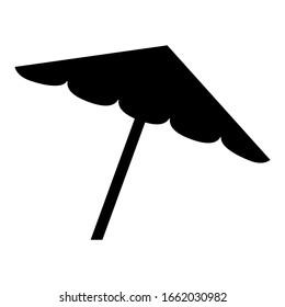 Beach umbrella icon design. Beach umbrella icon in modern silhouette style design. Vector illustration.