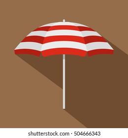 Beach umbrella icon. Flat illustration of beach umbrella vector icon for web