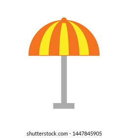 beach umbrella icon. Logo element illustration. beach umbrella design. colored collection. beach umbrella concept. Can be used in web and mobile