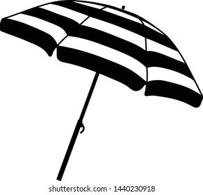 Beach umbrella icon.Sun protection. Parasol.